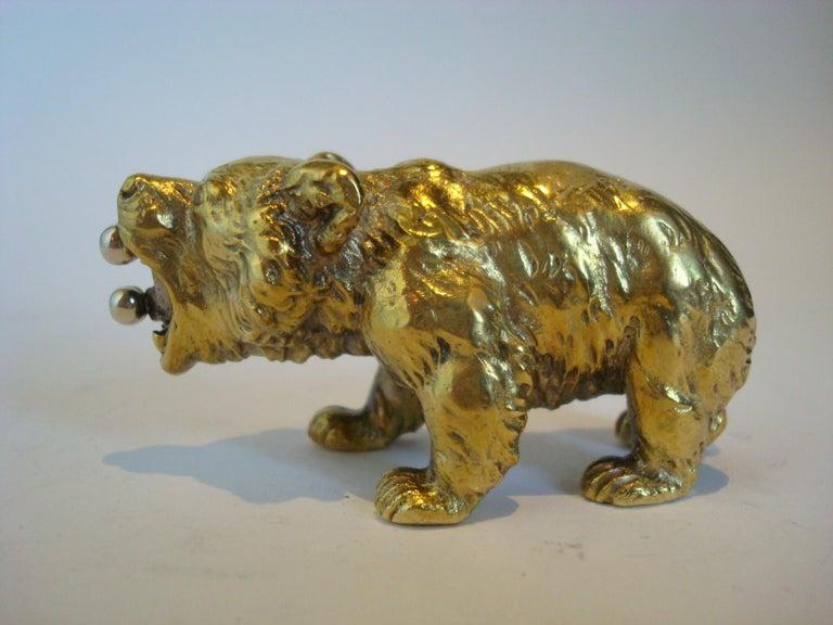 Austrian Bronze Bear Cigar Cutter, ca 1900´s For Sale 2