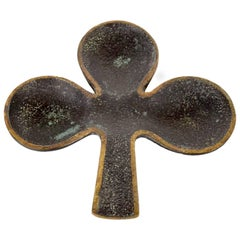 Austrian Bronze Clover Ashtray by Richard Rohac, 1950s