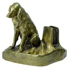 Austrian Bronze Dog 'ashtray and phosphor'