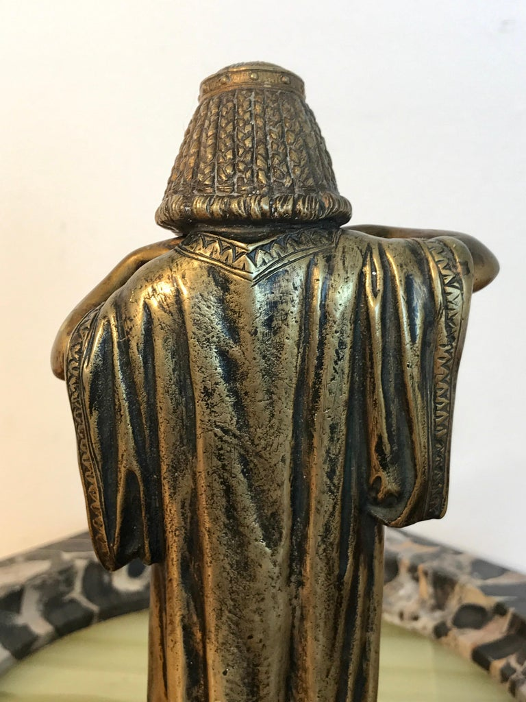 Austrian Bronze Egyptian Bather, Attributed to Bergman For Sale 5