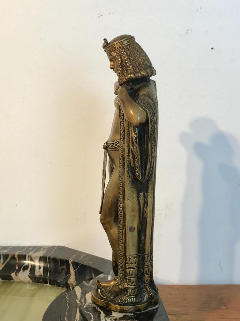 Austrian Bronze Egyptian Bather, Attributed to Bergman For Sale 7