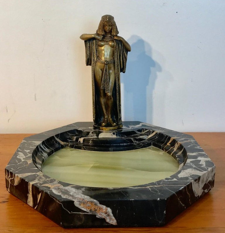 Austrian Bronze Egyptian Bather, Attributed to Bergman For Sale 11