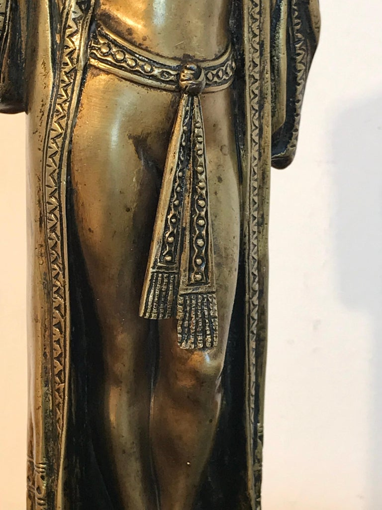 Austrian Bronze Egyptian Bather, Attributed to Bergman In Good Condition For Sale In West Palm Beach, FL