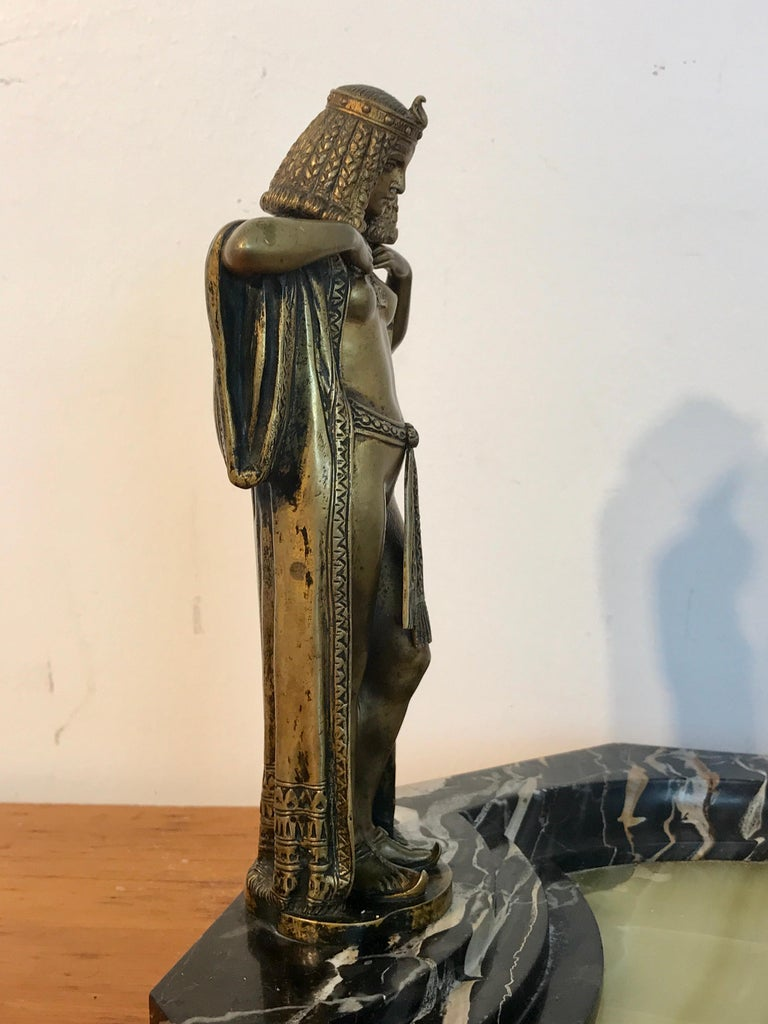 Austrian Bronze Egyptian Bather, Attributed to Bergman For Sale 2
