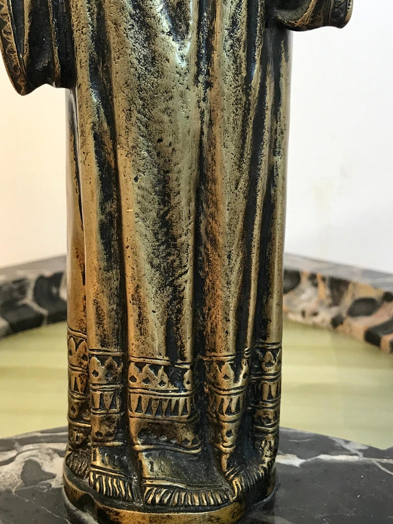 Austrian Bronze Egyptian Bather, Attributed to Bergman For Sale 4