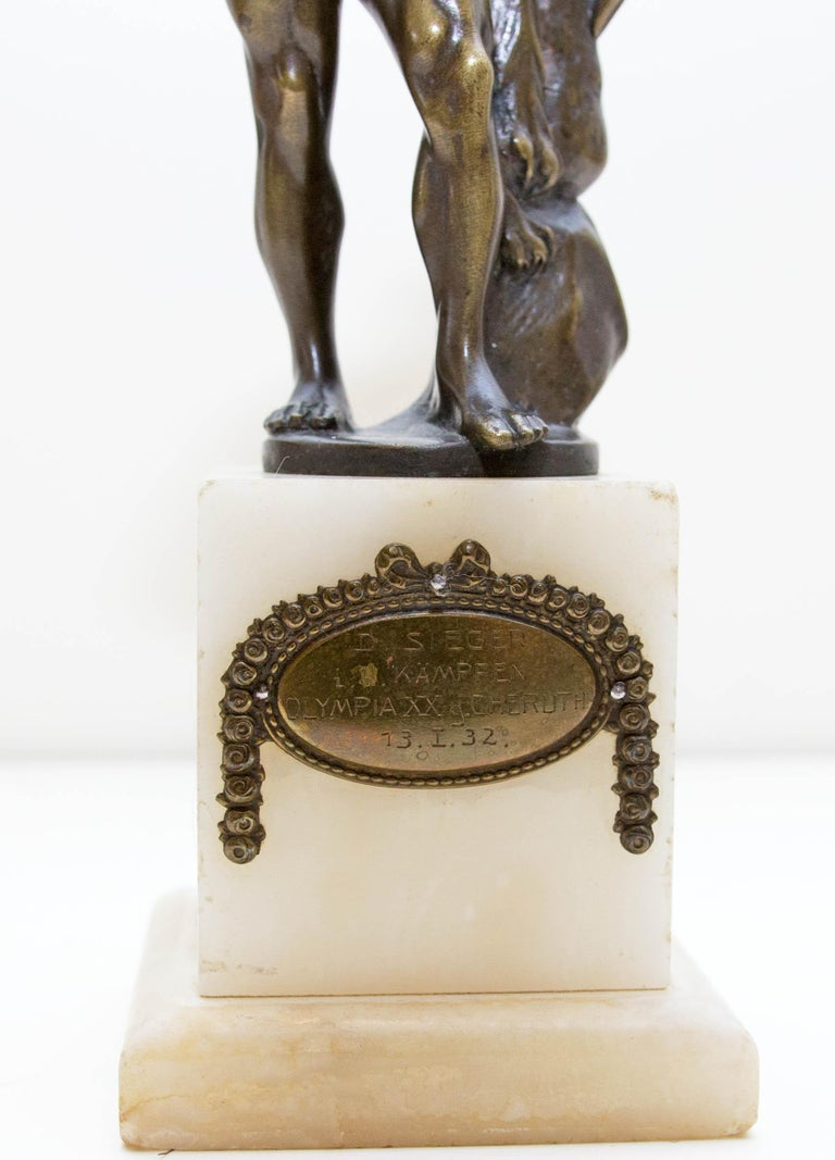 Austrian Bronze Figure of Hercules In Good Condition For Sale In Rochester, NY