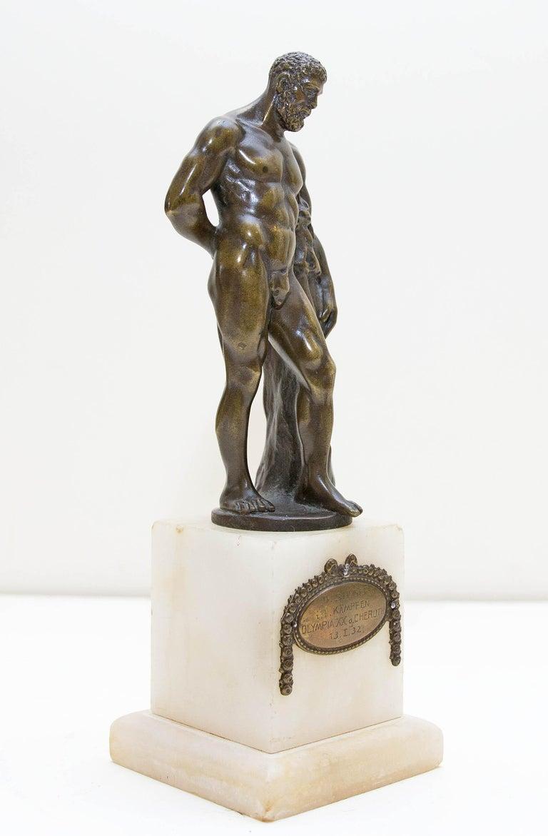 20th Century Austrian Bronze Figure of Hercules For Sale