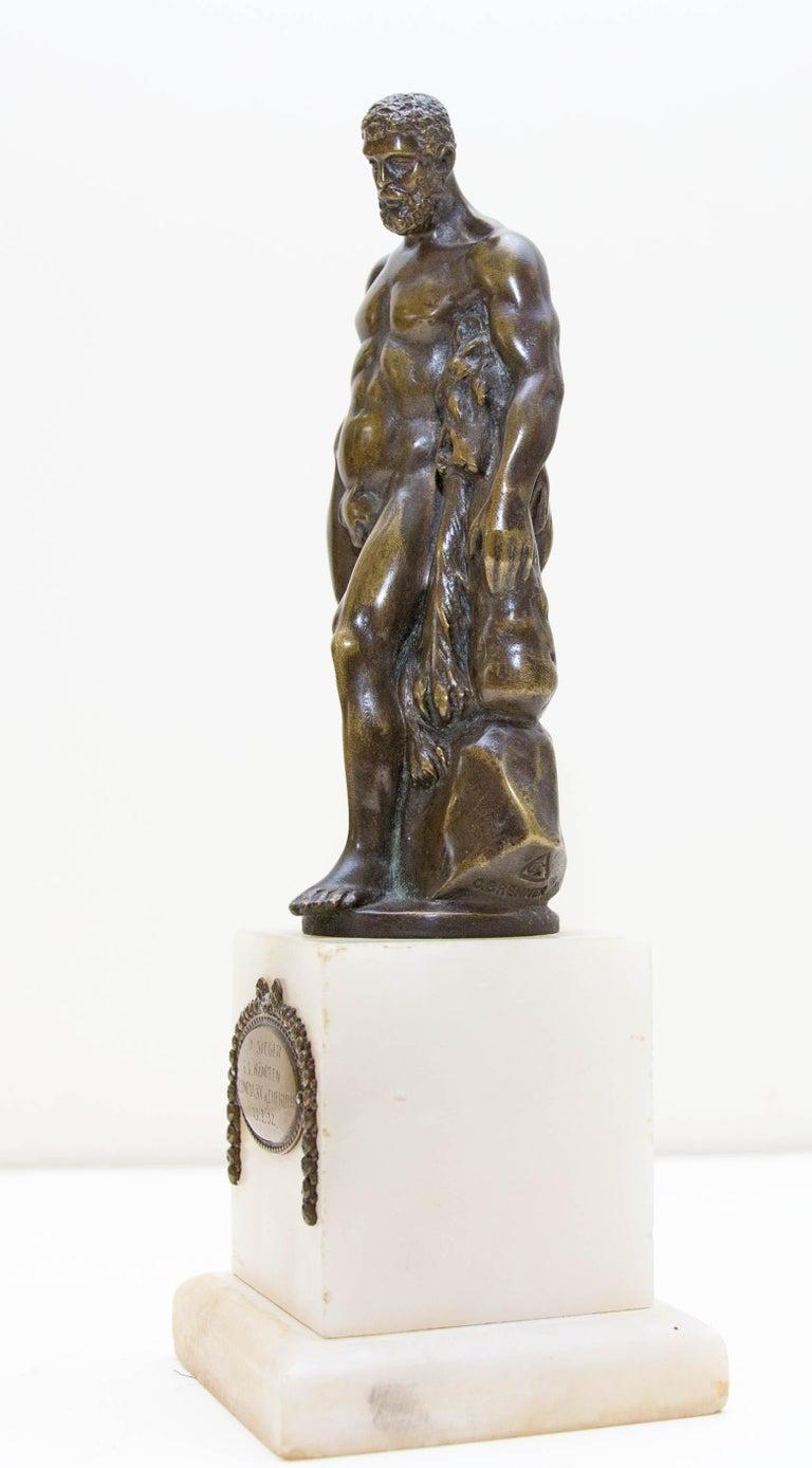 Metal Austrian Bronze Figure of Hercules For Sale