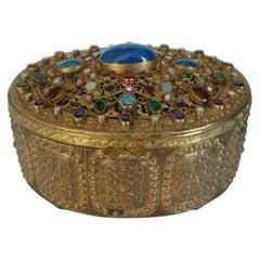 Austrian Bronze Jewelry Box, c 1900