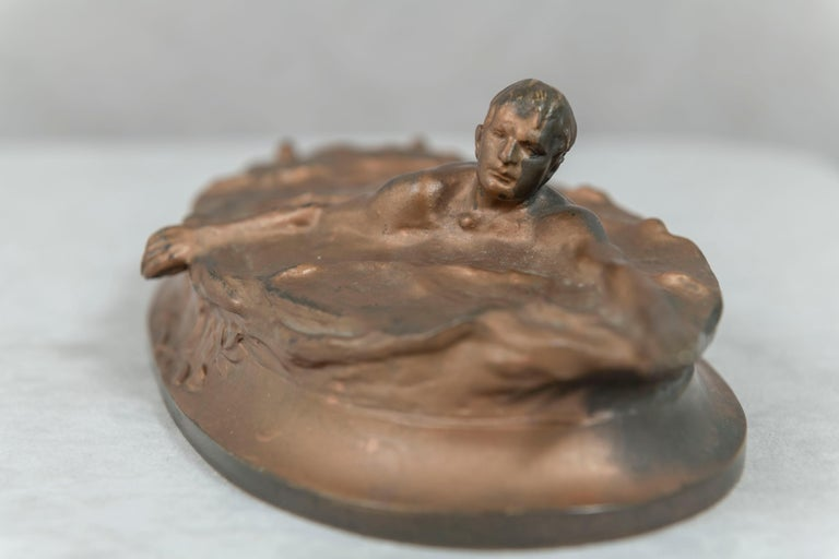 Austrian Bronze of a Swimmer, Artist Signed, circa 1920 For Sale 2