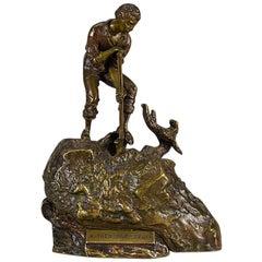 "Austrian Bronze Study ""Treasure Seeker"" by Carl Kauba"