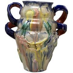 Austrian Ceramics Vase Expressionist Style by Vally Wieselthier Vienna 1923