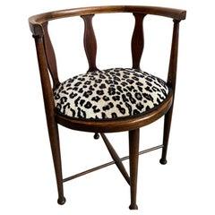 Austrian Child's Chair w/ Schumacher Leopard Upholstery