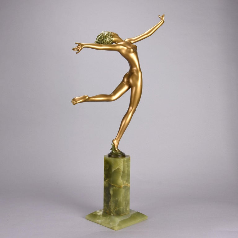 Austrian Cold Painted Art Deco Bronze Figure