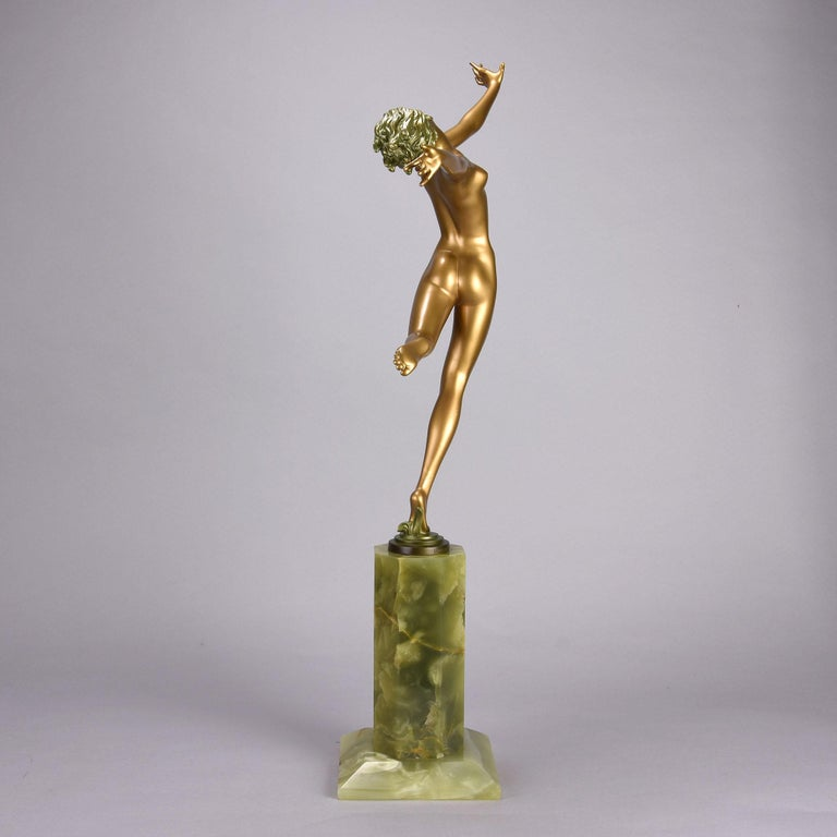 Mid-20th Century Austrian Cold Painted Art Deco Bronze Figure