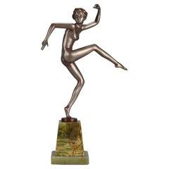 Austrian Cold Painted Art Deco Dancer by Josef Lorenzl