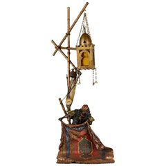 Austrian Cold Painted Bronze 'Carpet Seller Lamp' by Franz Bergman