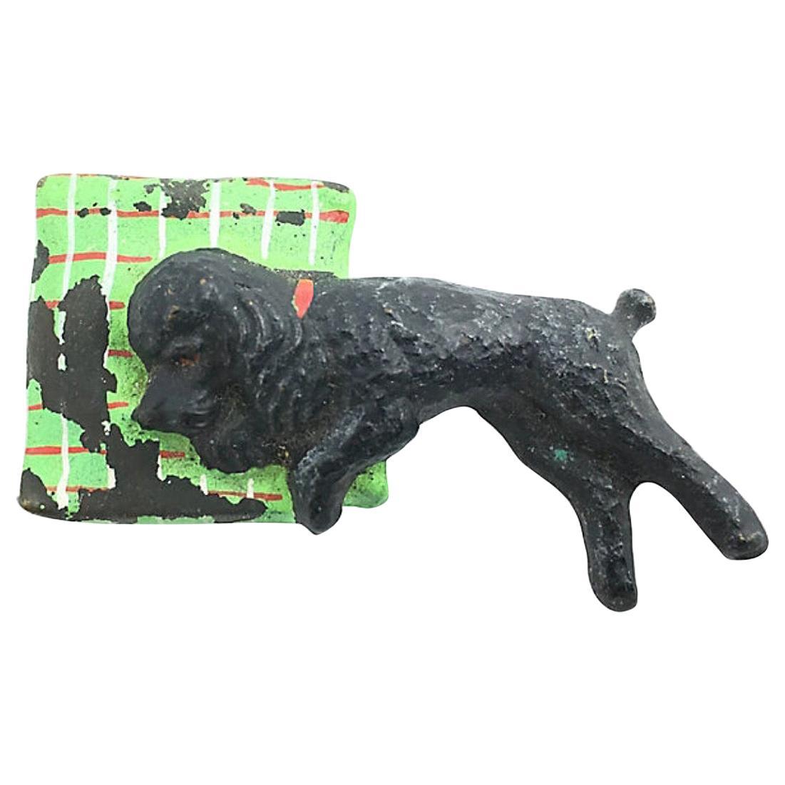Austrian Cold-Painted Bronze Poodle Dog Sculpture