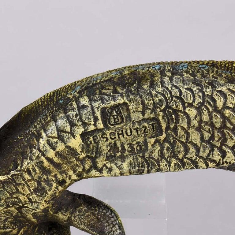 Austrian Cold Painted Bronze Study 'Lizard' by Franz Bergman For Sale 2