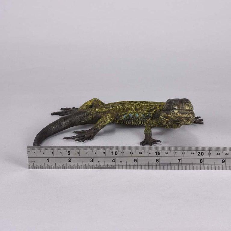 Austrian Cold Painted Bronze Study 'Lizard' by Franz Bergman For Sale 3