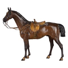 Austrian Cold Painted Bronze Study Standing Side Saddled Horse by Franz Bergman