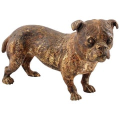 Austrian Cold Painted Bronze Terrier, 19th Century