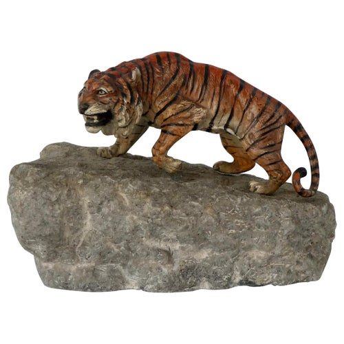 Austrian Cold Painted Bronze Tiger, circa 1900