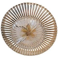 Austrian Crystal Glass Lucite and Gilt Brass Chandelier, Lobmeyr - SPECIAL OFFER