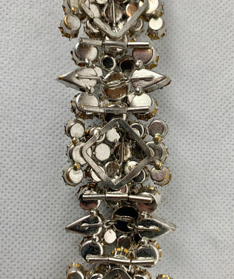1950s Austrian Cut Crystal Bracelet, Schoffel & Company, For Sale 4
