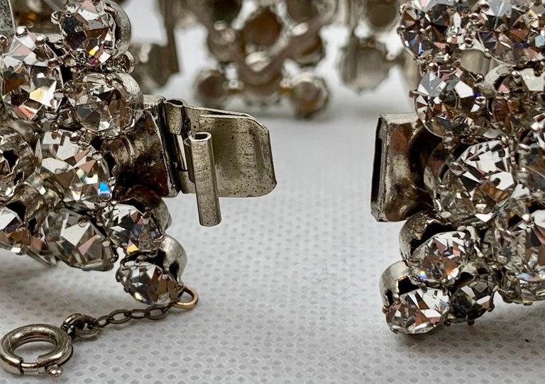 1950s Austrian Cut Crystal Bracelet, Schoffel & Company, For Sale 5