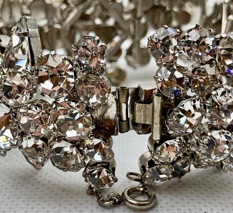 1950s Austrian Cut Crystal Bracelet, Schoffel & Company, For Sale 6