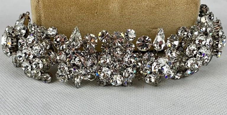1950s Austrian Cut Crystal Bracelet, Schoffel & Company, In Good Condition For Sale In West Palm Beach, FL