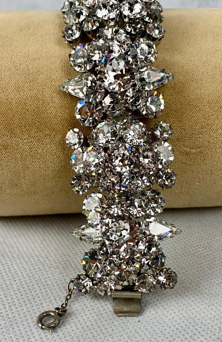 Women's  1950s Austrian Cut Crystal Bracelet, Schoffel & Company, For Sale