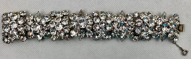 1950s Austrian Cut Crystal Bracelet, Schoffel & Company, For Sale 1