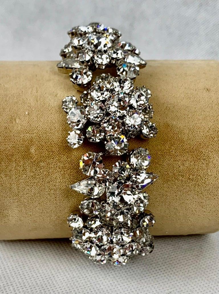 1950s Austrian Cut Crystal Bracelet, Schoffel & Company, For Sale 2