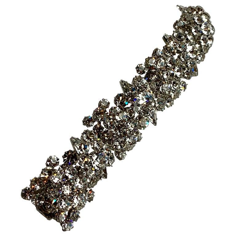 1950s Austrian Cut Crystal Bracelet, Schoffel & Company, For Sale