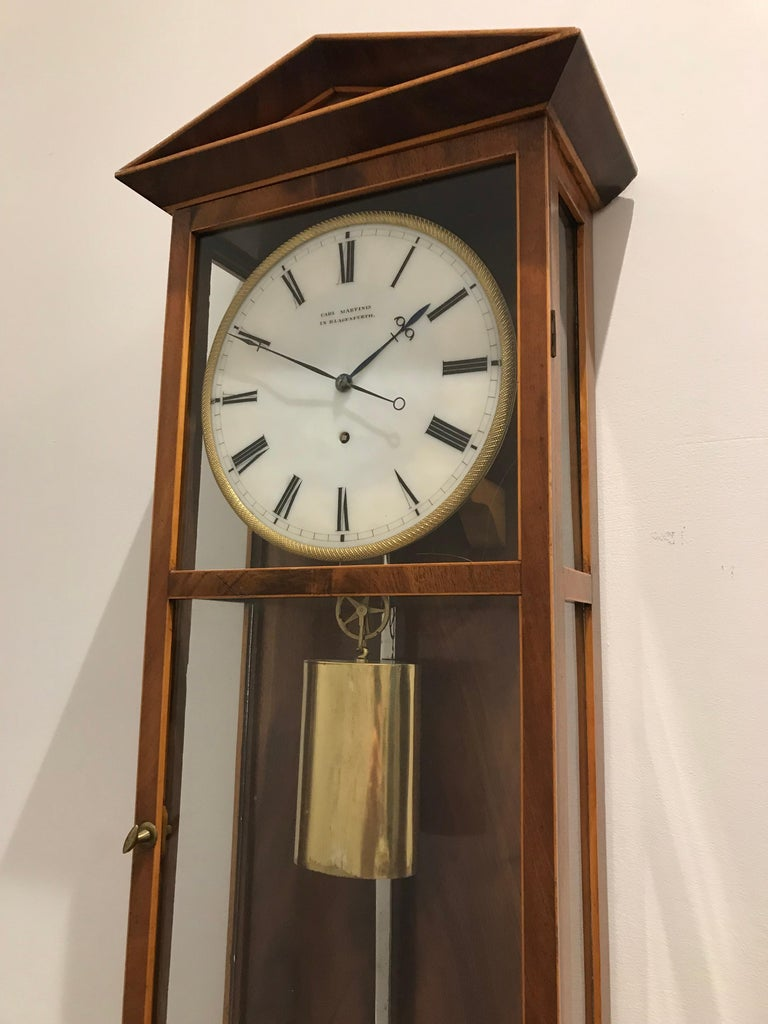 19th Century Austrian Dachluhr Regulator Wall Clock by Carl Martinis