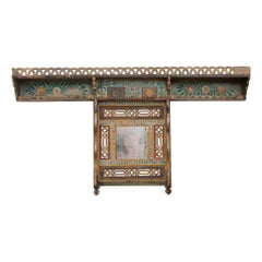 Austrian Early 19th Century Hand-Painted Pine Coat Rack