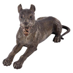 Austrian Early 20th Century Bronze Sculpture of Great Dane