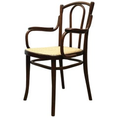Austrian Early 20th Century Wood and Vienna Straw Chair by Thonet, 1900s