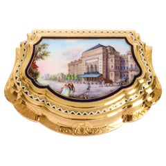 Austrian Enamelled 18k Gold Snuff Box