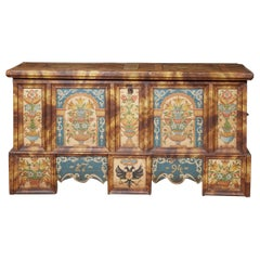 Austrian Folk Painted Marriage Chest