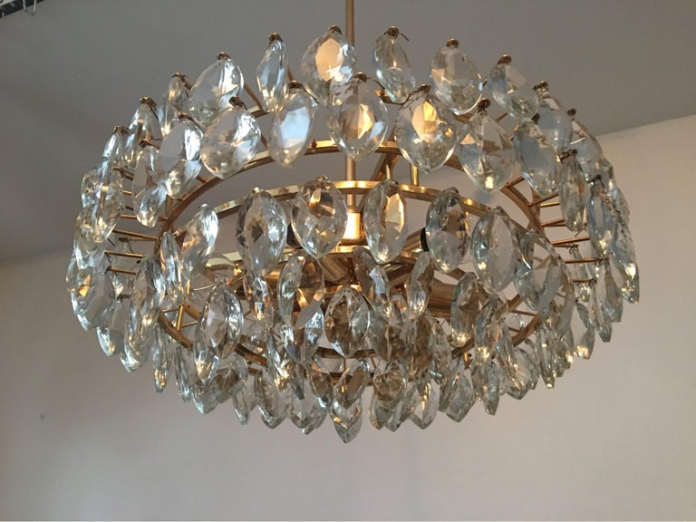 Austrian Gilded Five-Tiered Bakalowits Style Crystal Chandelier, 1970s 6