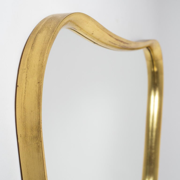 Mid-Century Modern Austrian Giltwood Mirror, 1940s For Sale