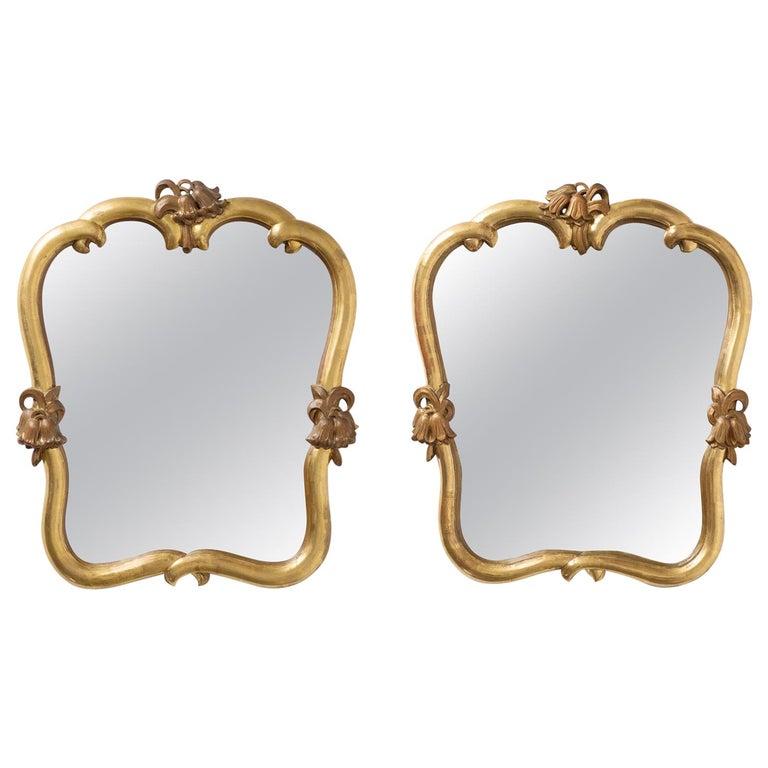 Austrian Giltwood Mirrors, circa 1930, Max Welz For Sale