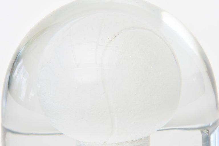 Austrian Glass Tennis Ball Paperweight Sculpture For Sale 1
