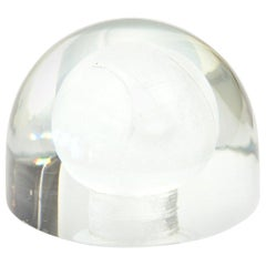 Austrian Glass Tennis Ball Paperweight Sculpture