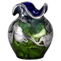 "Austrian Glass ""Titania Silvered Art Nouveau Vase"" by Johann Loetz"