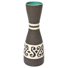 Austrian Glazed Ceramic Vase or Vessel Mid-Century Modern