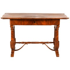 Austrian Josef Danhauser Style Biedermeier Walnut Writing Desk